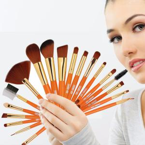 MAANGE 19Pcs Wool Fiber Makeup Brush Set, Eyebrow Foundation Powder Brush, Make Up Cosmetic Brushes