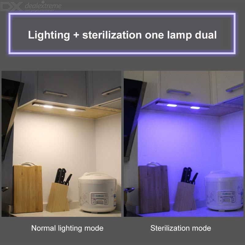Cupboard UV Sterilizer USB Rechargeable UV Light Kills Germs Bacteria