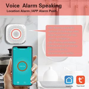 Tuya Smart Wifi Gas Sensor Leak Detector Smart Home Security Voice Alarm Smart Life App Wireless Remote Control - EU Plug