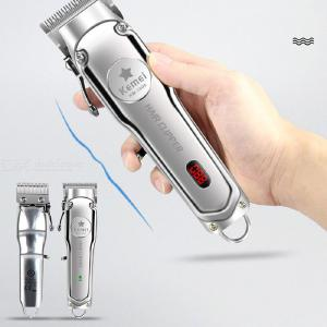 Kemei All-metal Professional Hair Clipper Electric Cordless Hair Trimmer For Men Hair Cutter LCD Display - EU Charger