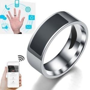 2019 Mens Fashion Jewelry NFC Mobile Phone Label Smart Ring Stainless Steel Rings for Men