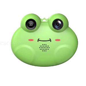 Mini Kids Digital Video Camera Cute Cartoon Frog Shape Toy Cameras Christmas Birthday Festival Gift For Children Boys Girls