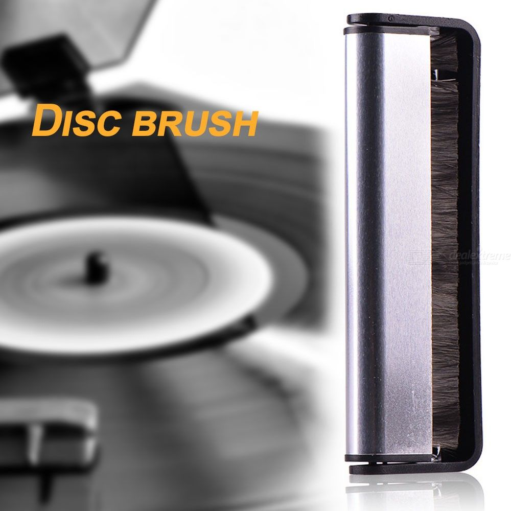 Phonograph Audio Handle Soft Cleaner Scrubbing Anti Static Turntables Pad Vinyl Record Brush Black Cleaning Tool