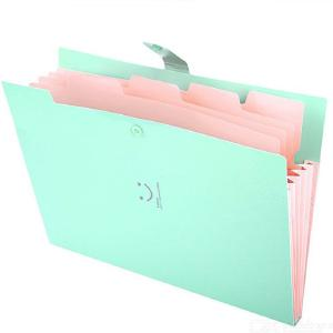 Plastic Expanding File Folders Accordion Document Organizer 5-Pocket A4 Letter Size With Snap Closure For School Office