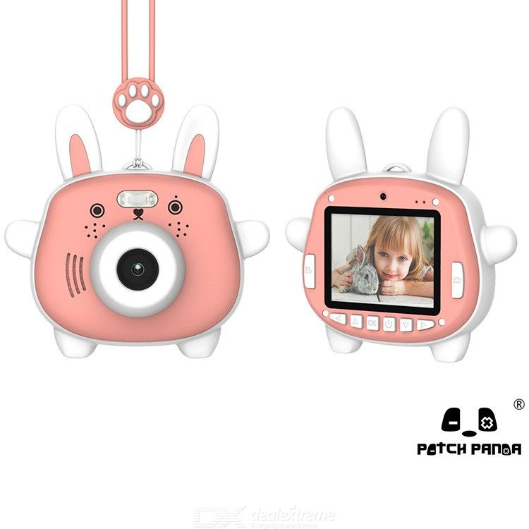 Kids Camera Children Digital Cameras With 12MP Dual Cams Voice Control