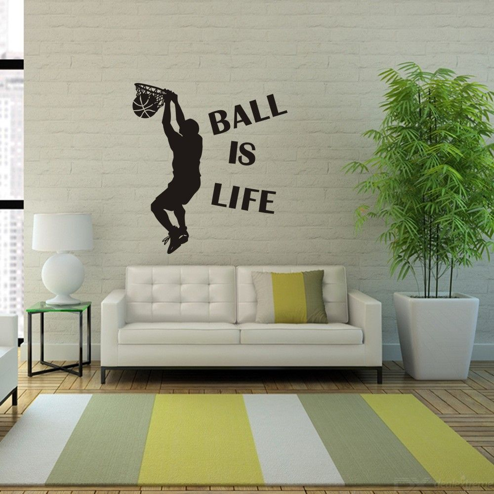 Basketball Game Wall Decals Wall Stickers Living Room Bedroom Wall Art Decor