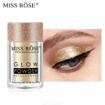 MISS ROSE Monochrome Glitter Eyeshadow Waterproof Shiny Shimmer Eye Shadow Glow Powder