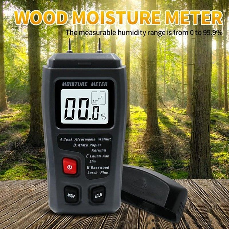 Dx coupon: 0-99.9 High Precision Wood Moisture Tester with LED Display