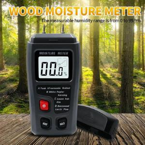 0-99.9 High Precision Wood Moisture Tester with LED Display