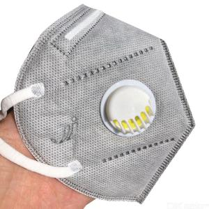 KN95 Mask Breathable Anti Dust Fog PM2.5 Face Mask With Valve Activated Carbon Filter Respirator For Men Women