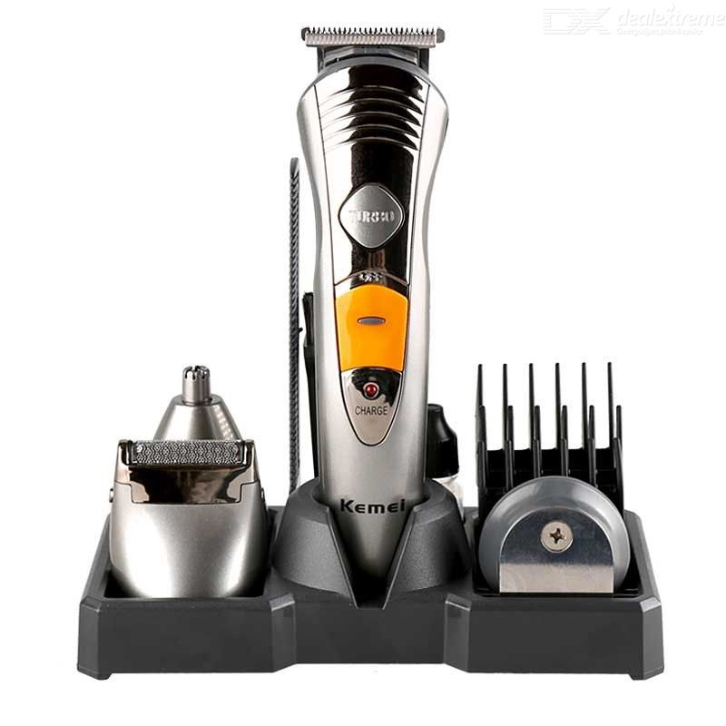 Kemei KM-580A Mens Grooming Kit 7-in-1 Hair Clipper Kit For Beard Head Body Face