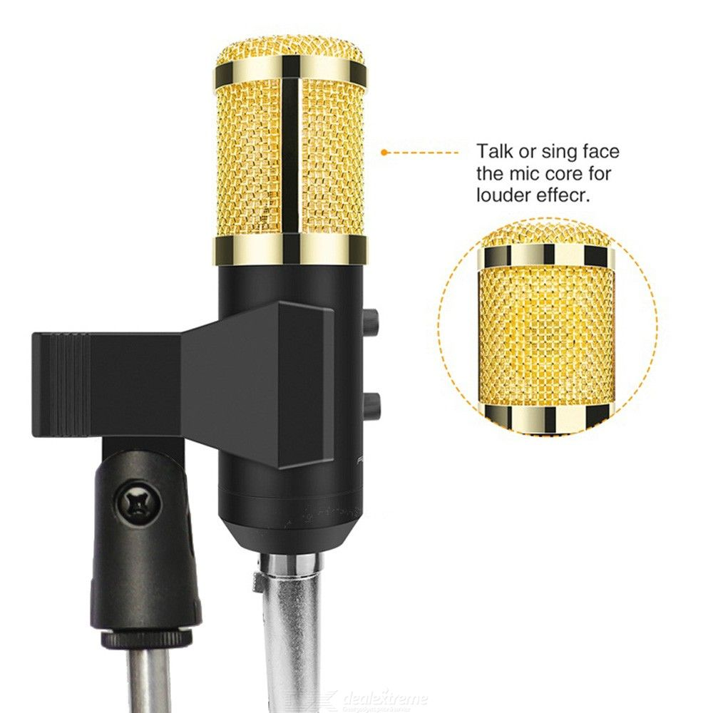 BM-900 Podcast Recording microphone with Stand Professional Condenser Studio Broadcasting Microphone