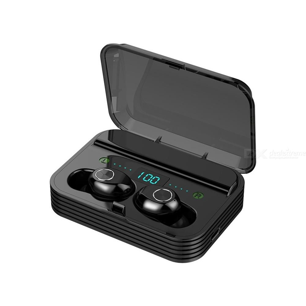 F9-7 Bluetooth 5.0 Wireless Earbuds Waterproof Noise Cancelling 9D Stereo TWS Bluetooth Earphones With Mic Charging Case