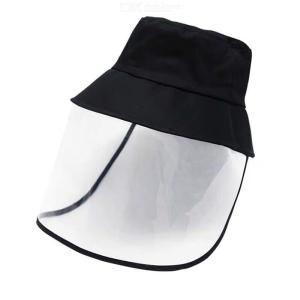 Unisex Anti-droplet Bucket Hat With Face Shield Mask Sunhat For Face Protection