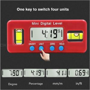 Mini Precision Digital Protractor Inclinometer Magnetic Water Magnetic Level Electronic Goniometer Measuring tool