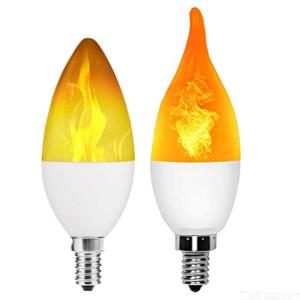 E14 LED Light Bulb 3W Flame Effect Fire Flickering Emulation Lamp For Home Indoor AC85-265V