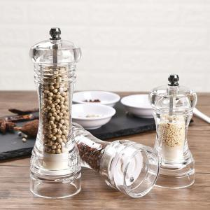 Acrylic Mill For Grinder Transparent Pepper Manual Crusher Ceramic Core Multifunctional Clear Mill Kitchen Tool