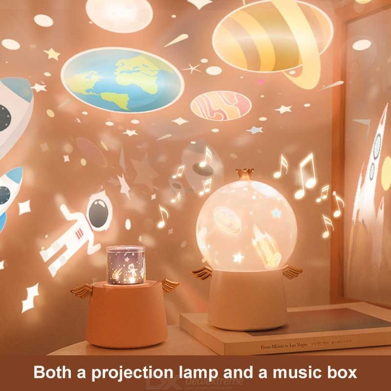 Nightlight Projector Music LED Projection Lamp For Kids Baby Children Adults