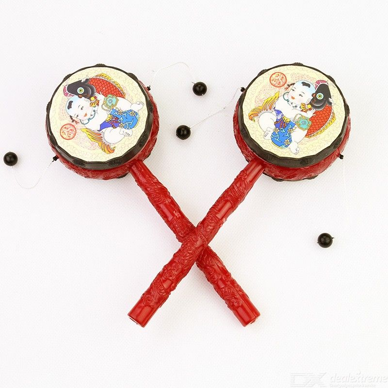 Traditional Chinese Rattle Drum For Baby Toddler Children