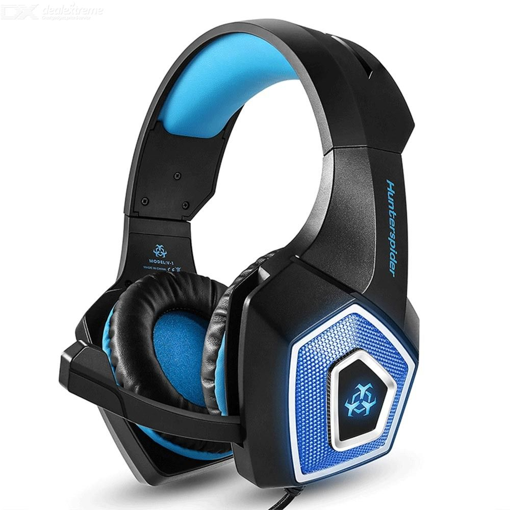 V1 Wired Gaming Headset, RGB PS4 PC 3.5 Mm Over-ear Headset With External Microphone