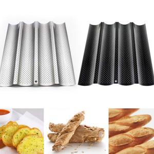 1PC Practical French Bread Baking Mold Bread Wave Baking Tray Cake Baguette Mold Pans 2/3/4 Groove Waves Bread Baking Tools