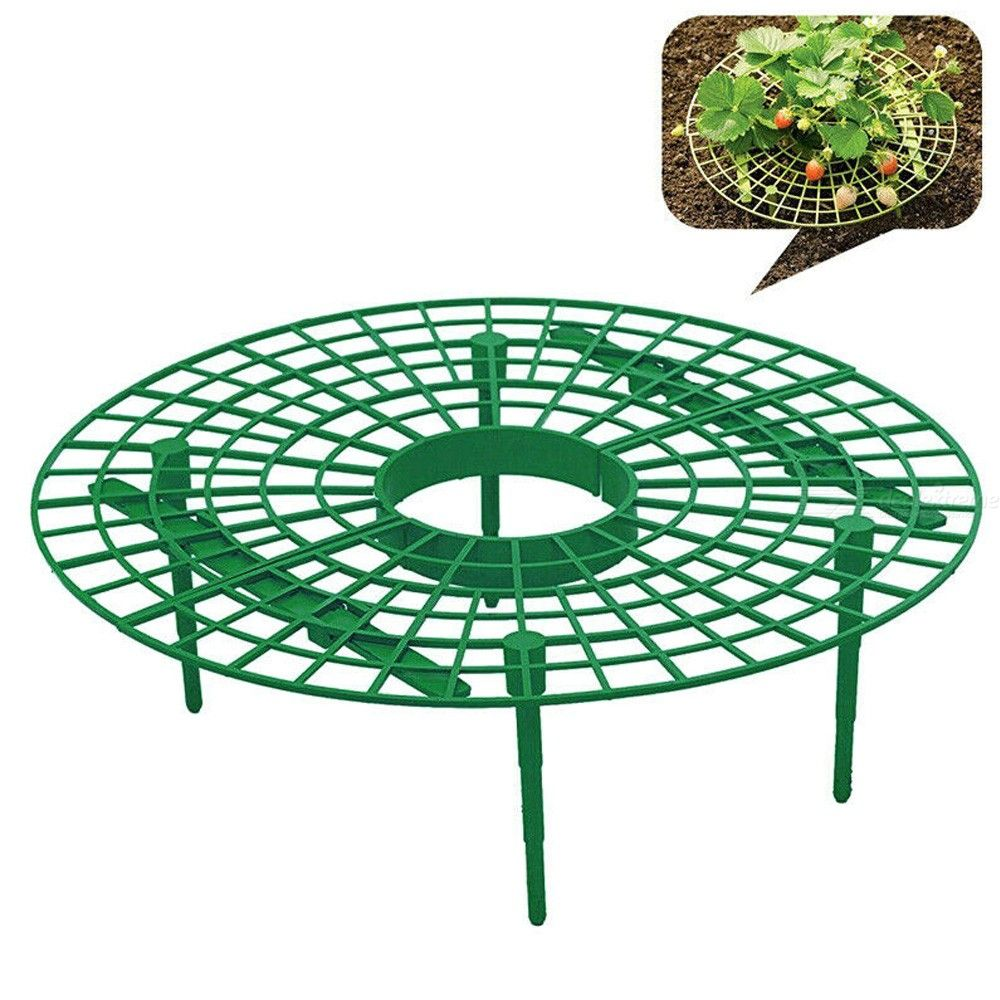 Garden Plant Support Planting Rack Strawberry Stand Fruit Support Plant Climbing Vine Props Flower Pillar Gardening Greenhouse