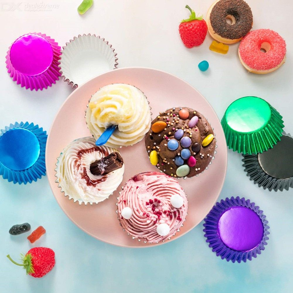 100PCS Muffin Cupcake Paper Cups Cupcake Liners Baking Muffin Box Cup Case Party Tray Cake Baking Cup Egg Tart Cup Mold