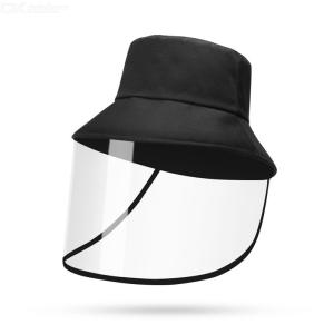 Adult Anti-Droplet Bucket Hat With Face Shield Protective Sunhat Face Mask For UV Light