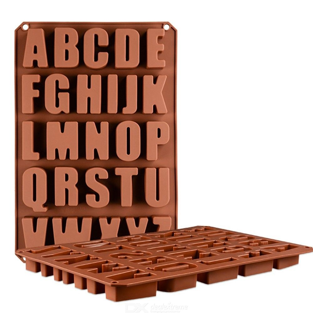 1PC 26 English Alphabet Letters Chocolate Silicone Mould Cake Mold Candy Fondant Molds Baking Accessories Kitchen Baking Mould