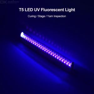 Ultraviolet Germicidal Light T5 Tube With Fixture UVC Disinfection Sterilizer Kill Dust Mite UV Quartz Lamp