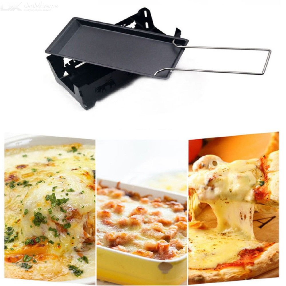 Cheese Oven Utility Mini Cheese Multi-function Oven With Wooden Handle Non-stick Cheese Baking Tray Barbecue Tool