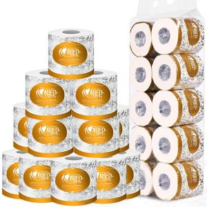10 Rolls Toilet Paper Bulk 3-Ply Toilet Paper Roll Soft Skin-Friendly White Paper Towels For Home Kitchen Bathroom Office