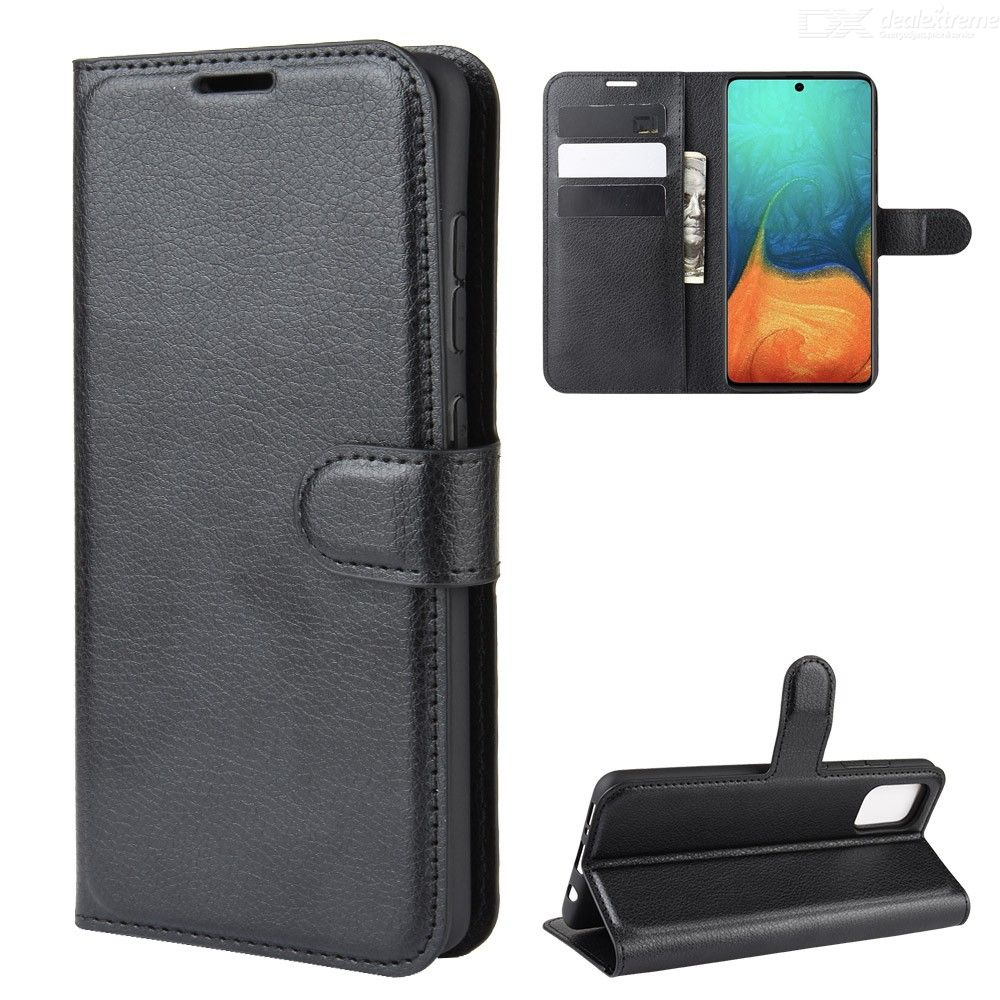 Naxtop Flip Case for Samsung Galaxy A51 A71 TPU + PU Leather Wallet Phone Case Cover with Kickstand Function Card Cash Holder