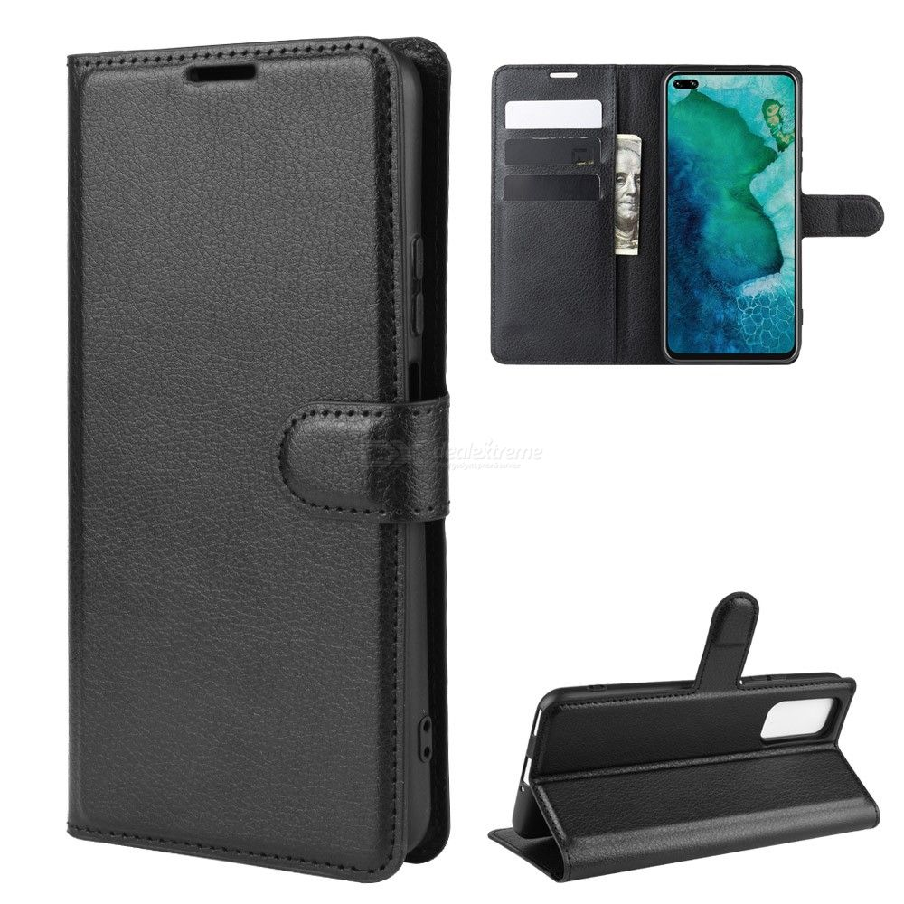 Naxtop Flip Case for Huawei Honor V30 Pro V30 TPU + PU Leather Wallet Phone Case Cover with Kickstand Function Card Cash Holder