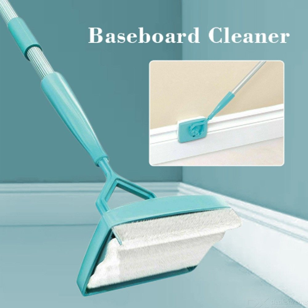 Baseboard Extendable Cleaning Microfiber Duster Buddy 360 Degree Swivel-action Head Multi-Use Clean Mop Home Kitchen Cleaner