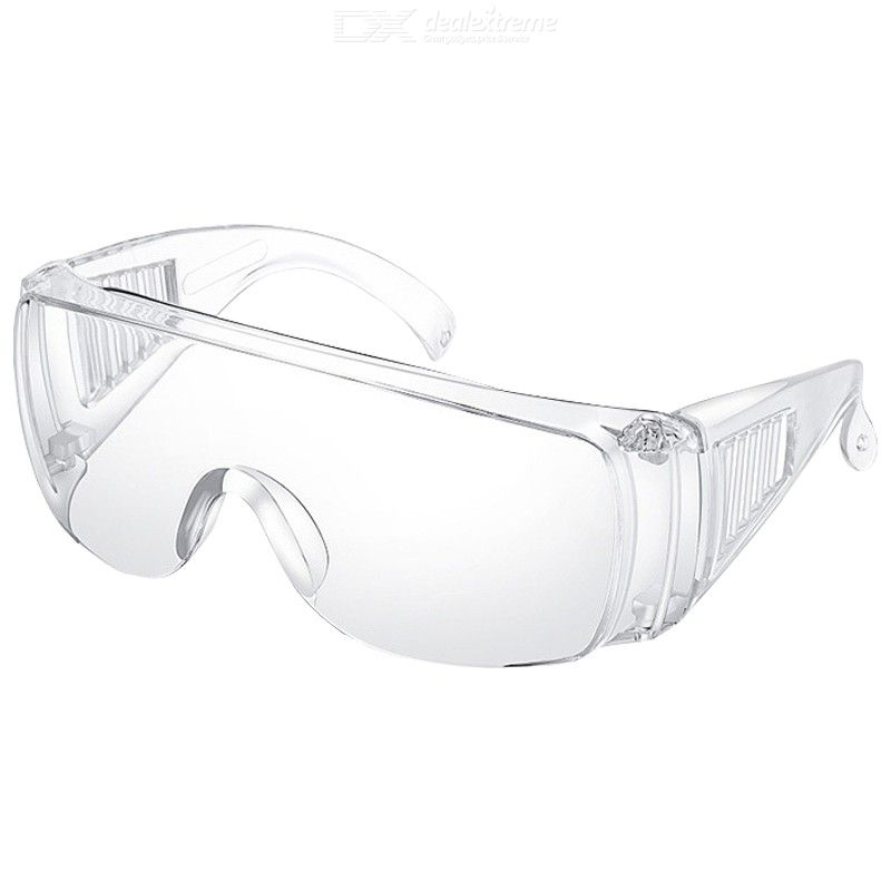 Safety Goggles Over-Glasses Goggles Clear Splash Resistant Anti-Fog Safety Glasses For Men Women, CE Listed