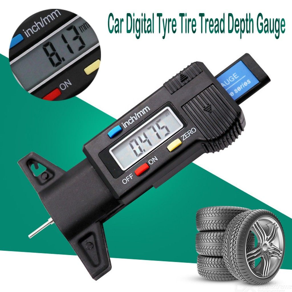 Dx coupon: 0-25.4mm Vehicle Digital Tire Pressure Gauge Depth Gauge / tire tread depth gauge