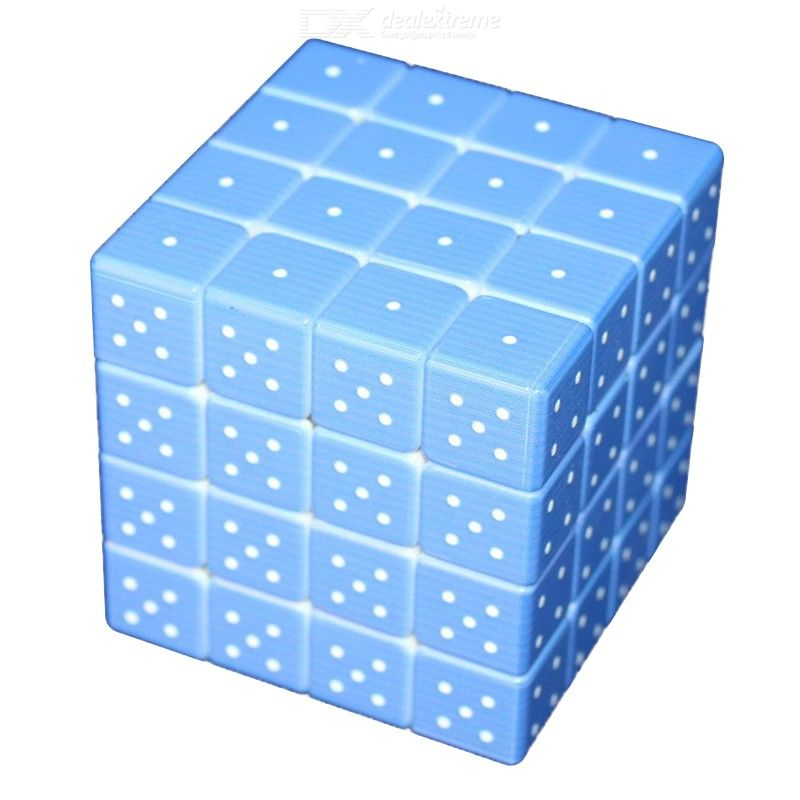 Magic Cube Puzzle 3D Embossed Braille Fingerprint Speed Cube Fourth-Order Cube Stress Relief Toys for Blind
