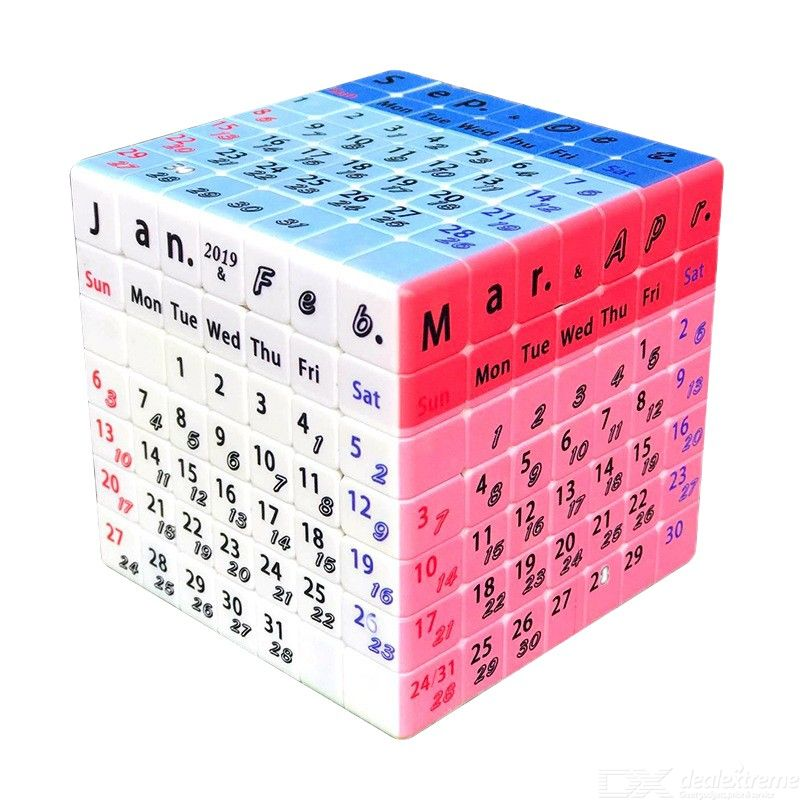 Speed Cube 7x7x7 Magic Cube Puzzle UV Printing Calendar Pattern Puzzle Cube Educational Toys