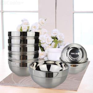 4.5 Inch Pure 304 Double Stainles Steel Bowl to Prevent Hot - 5PCS