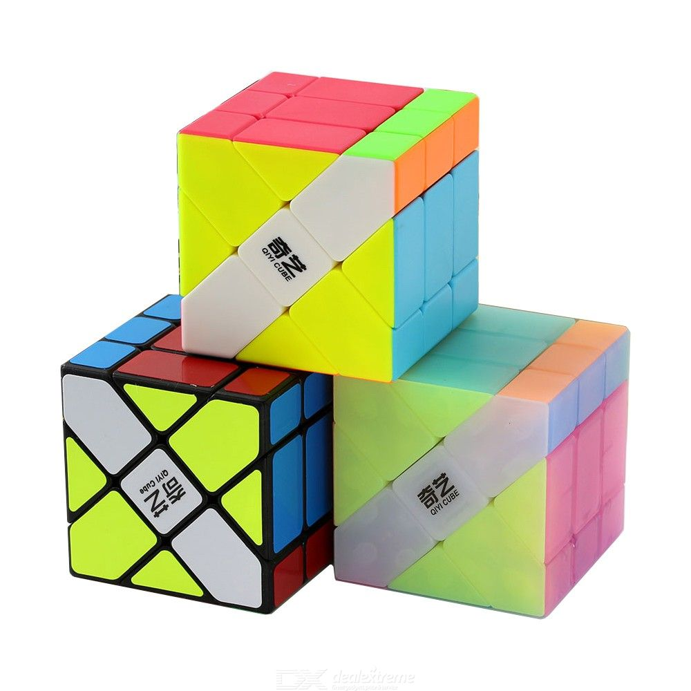 IQ-Cubes QiYi Speed Cube 3x3 Magic Cube Puzzle Educational Toys for Kids Adults