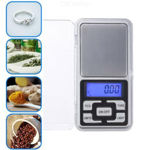 Digital Pocket Electronic Scale 0.01g precision mini jewelry weighing scale backlight scales 0.1g for kitchen 200g