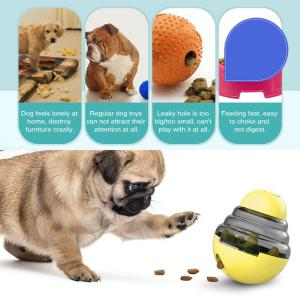 Interactive Dog Cat Food Treat Ball Shaking Leakage Food Container Pet Tumbler Toy