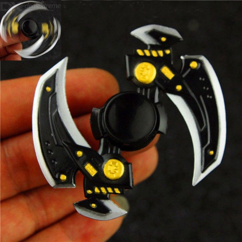 Maozhong Weapon Decompression Toy Zinc Alloy Fingertip Gyro-Black
