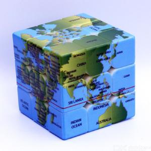 Speed Cube 3x3x3 Magic Cube Puzzle UV Printing World Map Pattern Puzzle Cube Educational Toys Stress Relief Toys