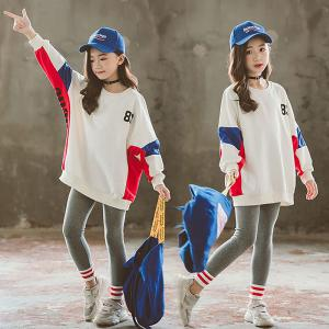 Kids Girls 2-Piece Outfit Long Sleeve Hoodie Sweatshirt And Legging Pants, Two Pieces Clothes Set For Spring Autumn