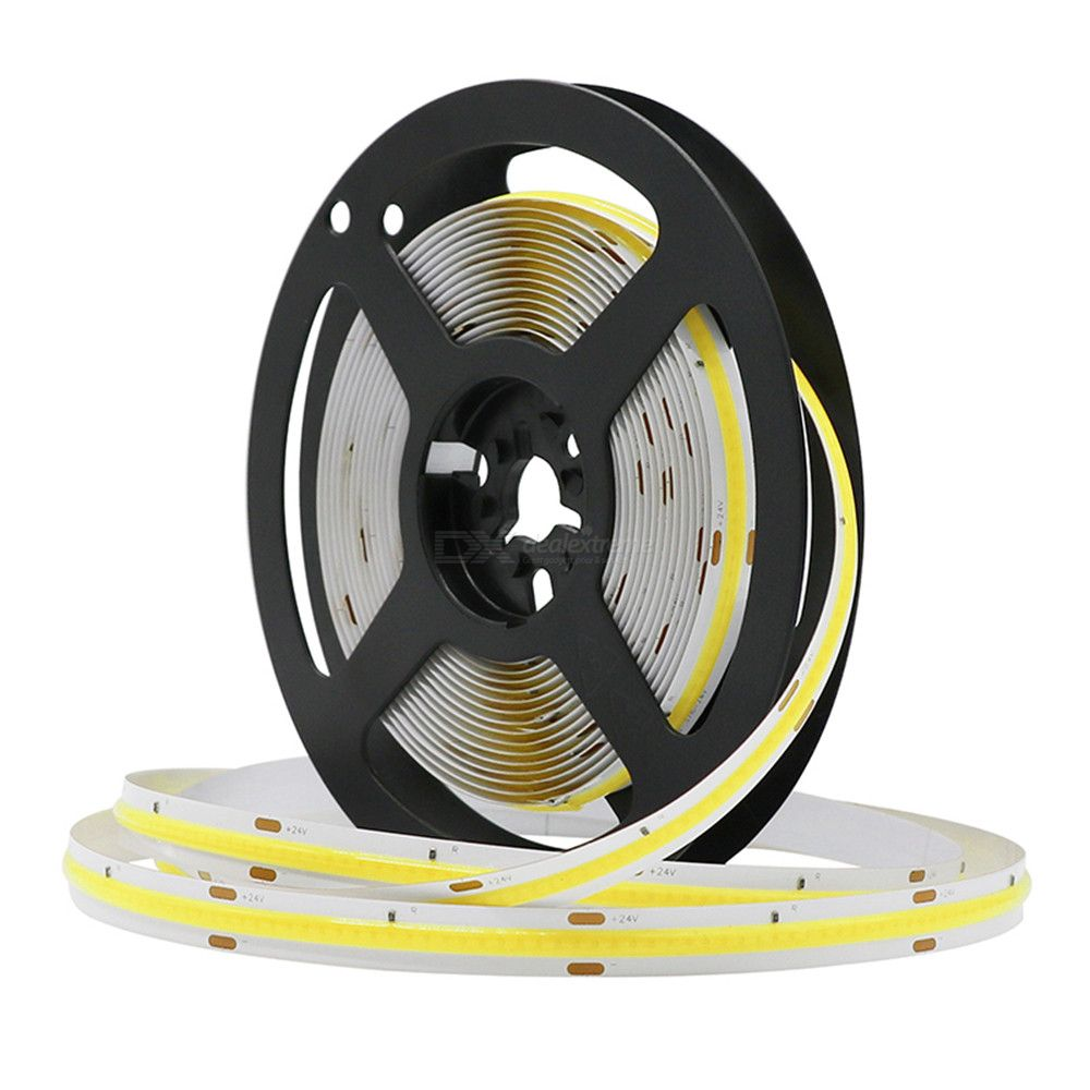 ZHAOYAO Highlighted IP44 Waterproof 5M 50W DC 24V White COB LED Strip