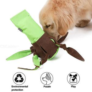 Recyclable Plastic Bottle Filled Fabric Cover Utterance Dog Toys