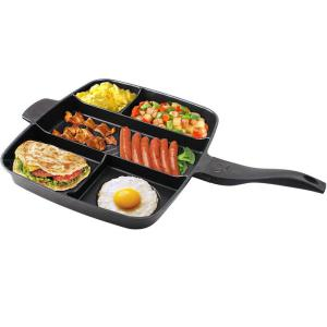 Kitchen Pot 15 Inches Non-stick Frying Pan 5 In 1 Fry Pan Divided Grill Pan for All-in-One Cooked Breakfast Pot