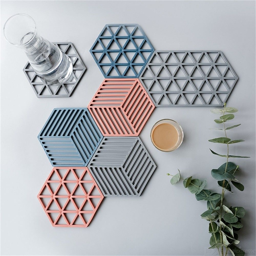 Kitchen Dish Mats Anti-slip Cup Hollow Pads For Bowl Pot Heat Resistant Eco-friendly Coasters